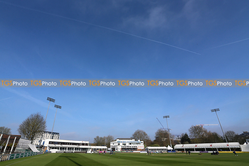 Blues skies over the ground during Essex CCC vs Durham MCCU, English MCC University Match Cricket at The Cloudfm County Ground on 3rd April 2017