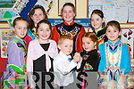 ST PATRICK: Enjoying the St Patricks Day Annual Feis were dancers from the Jimmy Hickey School of Dancing in the Boys School, Listowel on Sunday. Front L-r: Siomha Wall, Sara Moriarty, Aaron Slemon, Muirne Wall and Aileen Wilmott. Back l-r: Katherine Kennelly, Chloe Daly and Rebecca Wilmott..