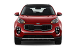 Car photography straight front view of a 2019 KIA Sportage SX Turbo 5 Door SUV
