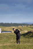 5th October 2017, The Old Course, St Andrews, Scotland; Alfred Dunhill Links Championship, first round; Richard Bland of England pitches to the 12th green during the first round on the Old Course, St Andrews at the Alfred Dunhill Links Championship
