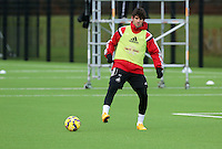 Pictured: Miguel Oliveira Tuesday 13 January 2014<br /> Re: Swansea City FC training at Fairwood near Swansea, south Wales.