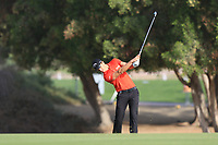 Thomas Detry (BEL) on the 3rd fairway during Round 4 of the Omega Dubai Desert Classic, Emirates Golf Club, Dubai,  United Arab Emirates. 27/01/2019<br />
