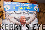 A wing and a prayer<br /> ------------------------<br /> Kilkenny senior hurling manager Brian Cody with 10 All Ireland titles as manager under his belt looks to heaven for hope for the Tralee Parnells hurling&amp;Comogie club as he was guest of honour at their annual prize night in the Meadowlands hotel,Tralee last Friday.