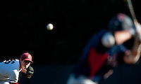 STANFORD, CA--Starting pitcher Mark Appel delivers to the batter during the first round of the NCAA Regional as the Stanford Cardinal took on the Fresno State Bulldogs at Sunken Diamond field.