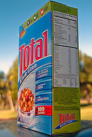 Total Whole Grain Cereal Box, outdoor, contents, nutrition values