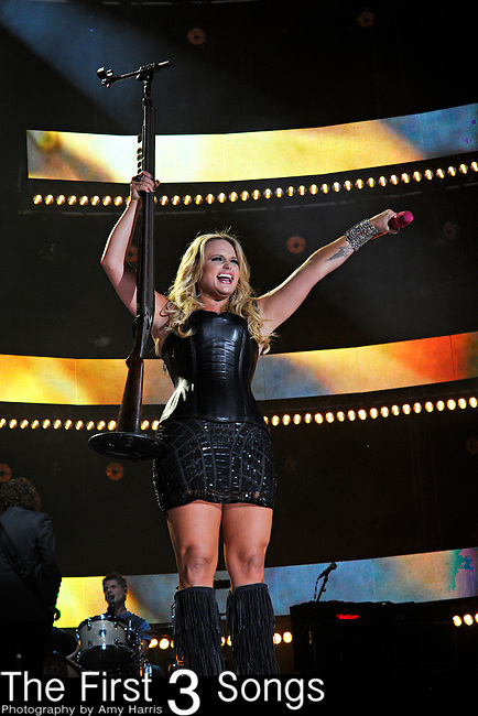 Miranda Lambert performs at LP Field during the 2012 CMA Music Festival on June 07, 2011 in Nashville, Tennessee.