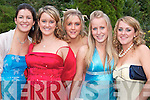 DEBS: Enjoying the night at Tarbert Comprehensive School Debs in Kirby's Lanterns Hotel, Tarbert, on Friday were from left, Michelle Foley and Danielle O'Driscoll, Ballylongford, Trina Wallace, Glin, Caoimhe Lynch, Ballybunion, and Sarah Griffin, Beale.