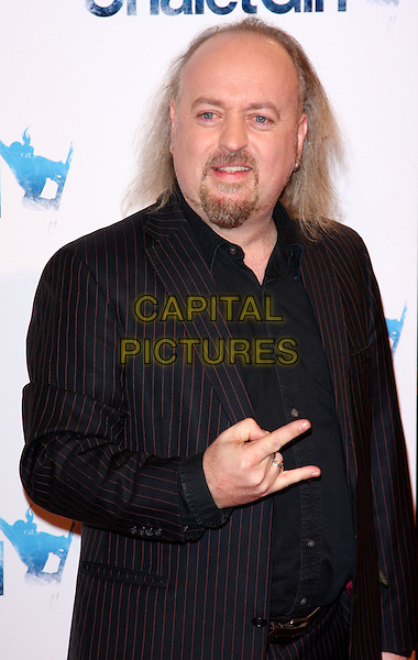 BILL BAILEY .World Premiere of 'Chalet Girl' at Vue cinema, Westfield Shopping Cnetre, London, England, UK, .February 8th 2011..half length hand black suit shirt gesture goatee facial hair beard .CAP/ROS.©Steve Ross/Capital Pictures