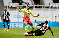 Manchester City's Kyle Walker is fouled by Newcastle United's Danny Rose <br /> <br /> Photographer Alex Dodd/CameraSport<br /> <br /> FA Cup Quarter-Final - Newcastle United v Manchester City - Sunday 28th June 2020 - St James' Park - Newcastle<br />  <br /> World Copyright © 2020 CameraSport. All rights reserved. 43 Linden Ave. Countesthorpe. Leicester. England. LE8 5PG - Tel: +44 (0) 116 277 4147 - admin@camerasport.com - www.camerasport.com