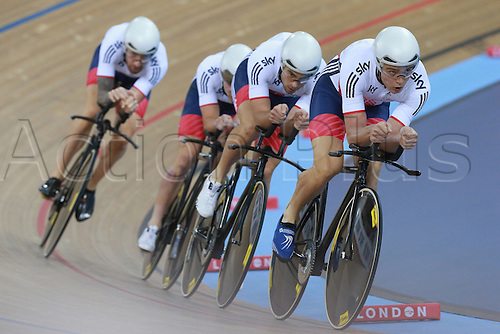 03.03.2016. Lee Valley Velo Centre, Lonodn England. UCI Track Cycling World Championships Mens Team Pursuit.  Team  Great Britain<br />