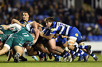 Josh Bayliss of Bath Rugby in action at a scrum. Aviva Premiership match, between London Irish and Bath Rugby on November 19, 2017 at the Madejski Stadium in Reading, England. Photo by: Patrick Khachfe / Onside Images
