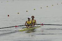 Poznan, POLAND.  2006, FISA, Rowing, World Cup, AUS  W2-  2 Bow  AMber BRADLEY and Kate HORNSEY, moves  away from  the  start, on the Malta  Lake. Regatta Course, Poznan, Thurs. 15.05.2006. © Peter Spurrier   .[Mandatory Credit Peter Spurrier/ Intersport Images] Rowing Course:Malta Rowing Course, Poznan, POLAND