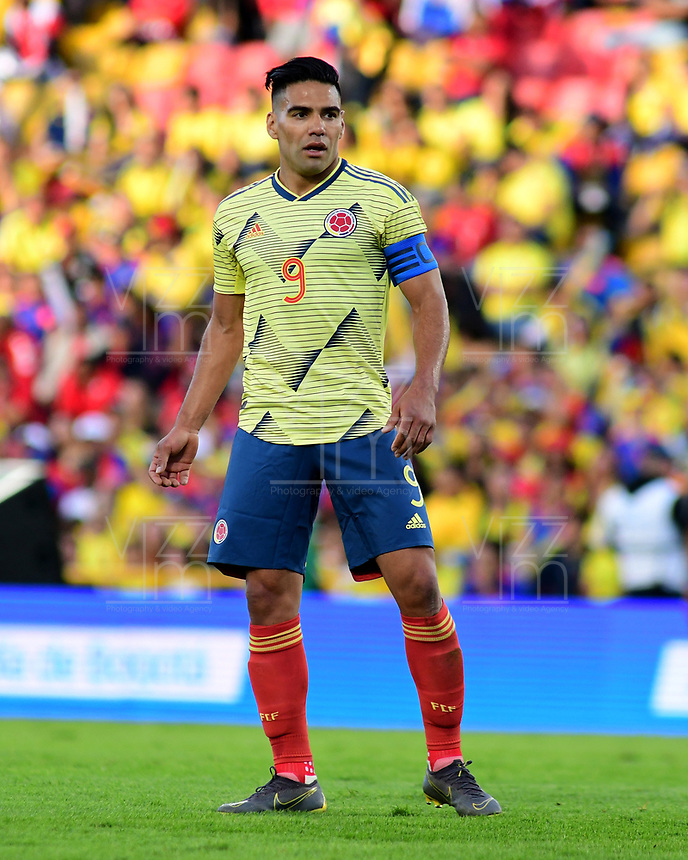BOGOTA - COLOMBIA, 03-06-2019: Falcao Garcia jugador de Colombia en acción durante partido amistoso entre Colombia y Panamá jugado en el estadio El Campín en Bogotá, Colombia. / Falcao Garcia player of Colombia in action during a friendly match between Colombia and Panama played at Estadio El Campin in Bogota, Colombia. Photo: VizzorImage / Nelson Rios / Cont