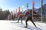 in action at the sprint qualification of the FIS Cross Country Ski World Cup  in Dobbiaco, Toblach, on January 14, 2017. Credit: Pierre Teyssot