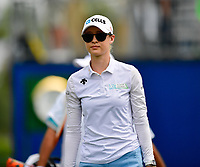 Nelly Korda of the United States makes her way from the 1st tee, during the final round of the ANA Inspiration at the Mission Hills Country Club in Palm Desert, California, USA. 4/1/18.<br /> <br /> Picture: Golffile | Bruce Sherwood<br /> <br /> <br /> All photo usage must carry mandatory copyright credit (&copy; Golffile | Bruce Sherwood)
