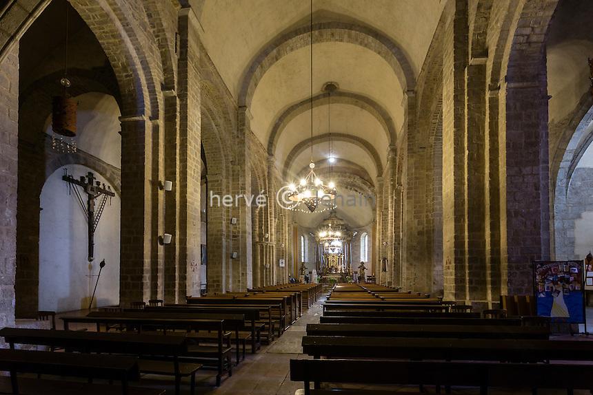 France, Pyrénées-Orientales (66), Elne, cathédrale Sainte-Julie-et-Sainte-Eulalie d'Elne // France, Pyrenees Orientales, Elne, Elne Cathedral, nave