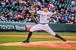 16 September 2017: Colorado Rockies starting pitcher Tyler Anderson on the mound against the San Diego Padres at Coors Field in Denver, Colorado. The Rockies shut out the Padres in a 16-0 route of the second game in their 3-game divisional series. Mandatory Credit: Ed Wolfstein Photo *** RAW (NEF) Image File Available ***