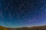 Star trails in the crisp air of New Zealand's South Island