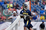 FOXBORO, MA - MAY 28: Edward Hellier (2) of the Merrimack Warriors during the Division II Men's Lacrosse Championship held at Gillette Stadium on May 28, 2017 in Foxboro, Massachusetts. (Photo by Larry French/NCAA Photos via Getty Images)
