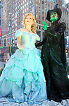"""Times Square Alliance unveiled its first season of Broadway """"Show Globes"""", illustrated """"Wicked"""", in Times Square on November 04, 2019 in New York City."""