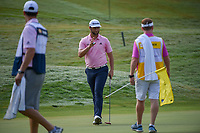 Jon Rahm (ESP) after sinking his par putt on 1 during round 4 of The Players Championship, TPC Sawgrass, at Ponte Vedra, Florida, USA. 5/13/2018.<br /> Picture: Golffile | Ken Murray<br /> <br /> <br /> All photo usage must carry mandatory copyright credit (&copy; Golffile | Ken Murray)