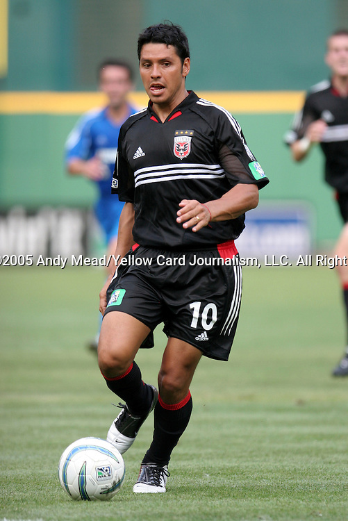 9 July 2005: Christian Gomez. The Kansas City Wizards defeated DC United 1-0 at RFK Stadium in Washington, DC in a regular season Major League Soccer game. .