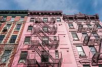 New York, NY 23 February 2014 - Apartment buildings in the Soho neighborhood of Manhattan