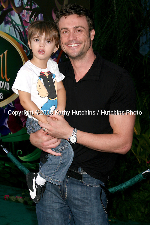 "Daniel Goddard & Son Ford arriving at the DVD Launch of ""Tinkerbell"" at he El Capitan Theater in Hollywood , CA on.October 19, 2008.©2008 Kathy Hutchins / Hutchins Photo...                ."
