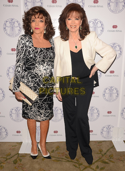 22 April 2014 - Los Angeles, California - Joan Collins, Jackie Collins. Arrivals for the Women's Guild Cedars-Sinai Spring Luncheon held at the Beverly Hills Hotel in Beverly Hills, Ca. <br /> CAP/ADM/BT<br /> &copy;Birdie Thompson/AdMedia/Capital Pictures
