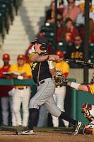 Mike Reuvekamp #37 of the California Bears bats against the USC Trojans at Dedeaux Field on April 5, 2012 in Los Angeles,California. California defeated USC 5-4.(Larry Goren/Four Seam Images)
