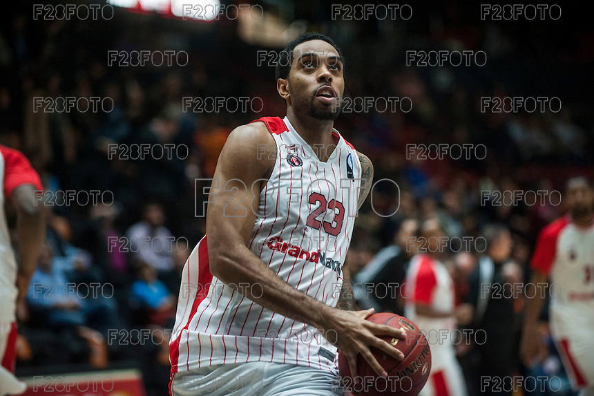 VALENCIA, SPAIN - NOVEMBER 18: Derwin Kitchen during EUROCUP match between Valencia Basket Club and CAI SLUC Nancy at Fonteta Stadium on November 18, 2015 in Valencia, Spain