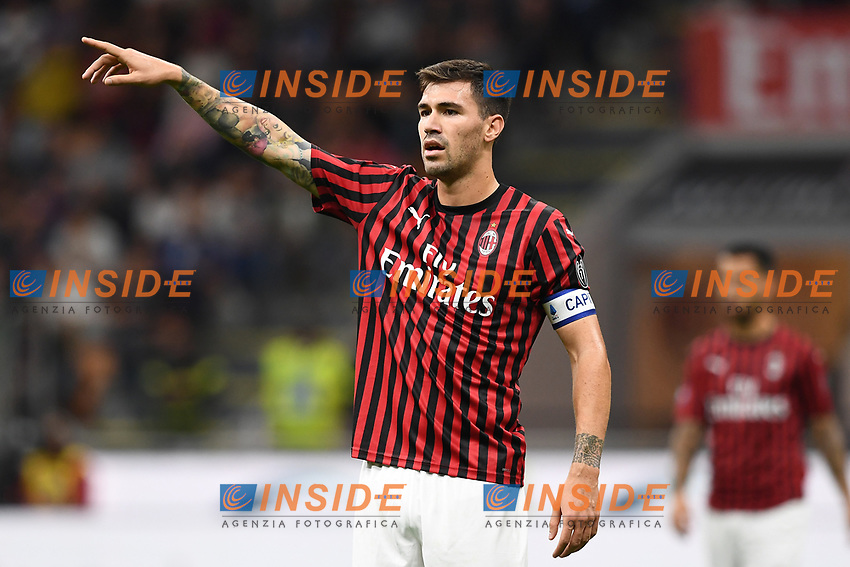 Alessio Romagnoli of AC Milan <br /> Milano 29/09/2019 Stadio Giuseppe Meazza <br /> Football Serie A 2019/2020 <br /> AC Milan - ACF Fiorentina   <br /> Photo Image Sport / Insidefoto