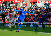 4th November 2017, bet365 Stadium, Stoke-on-Trent, England; EPL Premier League football, Stoke City versus Leicester City; Vincente Iborra of Leicester City celebrates scoring the opening goal of the game in the 33rd minute to make it 1-0 to Leicester