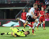goal, Tor, Timo Werner (Deutschland, Germany) erzielt das Tor zum 1:0 gegen Torwart Tomas Vaclik (Tschechische Republik), Filip Novak (Tschechische Republik), Torjubel - 01.09.2017: Tschechische Republik vs. Deutschland, Eden Arena