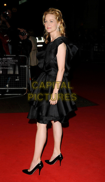 "LAURA LINNEY .""The Other Man"" Premiere during The Times BFF London Film Festival, odeon Leicester Square, London, England, UK, .October 17th 2008..red carpet full length black dress shoes layers .CAP/CAN.©Can Nguyen/Capital Pictures"