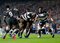 16th November 2019; Twickenham, London, England; International Rugby, Barbarians versus Fiji; Makazole Mapimpi of Barbarians charges towards the try line to score a try - Editorial Use