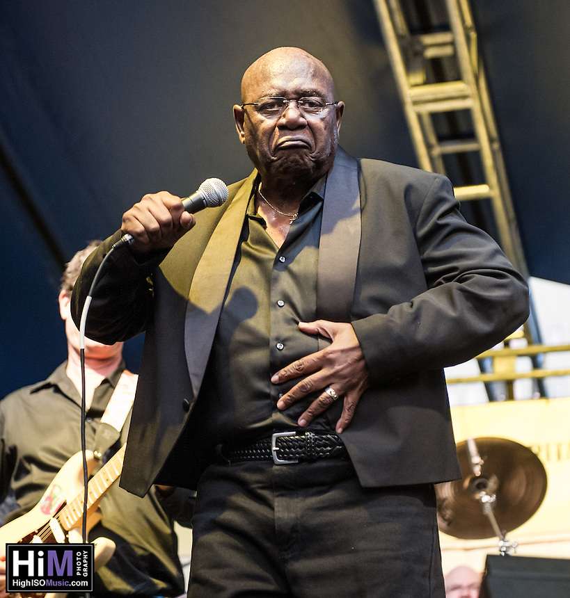 Mighty Sam McClain performs at the 2013 Blues & BBQ Festival in New Orleans, LA.