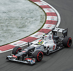 Sauber-Ferrari driver Sergio Perez of Mexico speeds his car during the F1 Grand Prix du Canada at the Circuit Gilles-Villeneuve on June 08, 2012 in Montreal, Canada. Photo by Victor Fraile / The Power of Sport Images