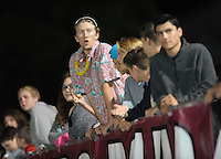 NWA Democrat-Gazette/ANDY SHUPE<br /> Springdale fans watch Friday, Oct. 9, 2015, against Fayetteville during the first half of play at Jarrell Williams Bulldog Stadium in Springdale. Visit nwadg.com/photos to see more photographs from the game.