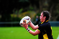 Alisha Print prepares to throw in during the Farah Palmer Cup women's provincial rugby match between Wellington Pride  and Auckland at Jerry Collins Stadium / Porirua Park, Wellington, New Zealand on Saturday, 23 September 2017. Photo: Dave Lintott / lintottphoto.co.nz