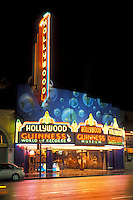 Hollywood, California, CA, Los Angeles, Guinness World of Records Museum illuminated at night in Hollywood.