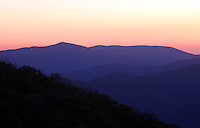 The Blue Ridge mountains scenic views.