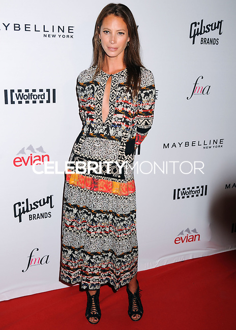 NEW YORK CITY, NY, USA - SEPTEMBER 05: Christy Turlington arrives at the 2nd Annual Fashion Media Awards held at the Park Hyatt on September 5, 2014 in New York City, New York, United States. (Photo by Celebrity Monitor)