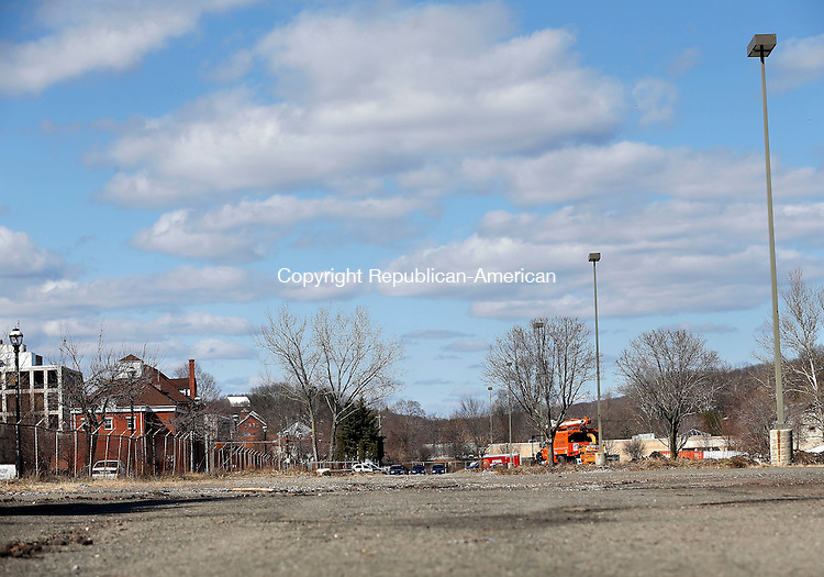 Naugatuck, CT- 11 April 2015-041115CM09-  Parcel B (a parking lot near the former GDC on Old Firehouse Road) is shown in Naugatuck on Saturday.   Christopher Massa Republican-American