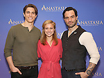 Derek Klena, Christy Altomare and Ramin Karimloo attend the ''Anastasia' Cast Photo Call at the New 42nd Street Studios on February 22, 2017 in New York City.
