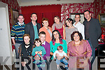 CHRISTENING DAY: Little Ian Panpuch Lopez, son of Teddy Panpuch and Cristine Panpuch Lopez, Oakpark, Tralee, who was christened in St John's church, Tralee last Sunday afternoon and celebrated after with family in Cassidy's restaurant, Tralee, seated l-r: Mariola, Teddy and Angela Panpuch with Cristine Panpuch Lopez and Karima Lopez. Back l-r: Derek Counihan, Gregor and Krystyna Panpuch, Carmen Aparicio, Ainara Rodriguez, Jose Segura and Michael Panpuch.