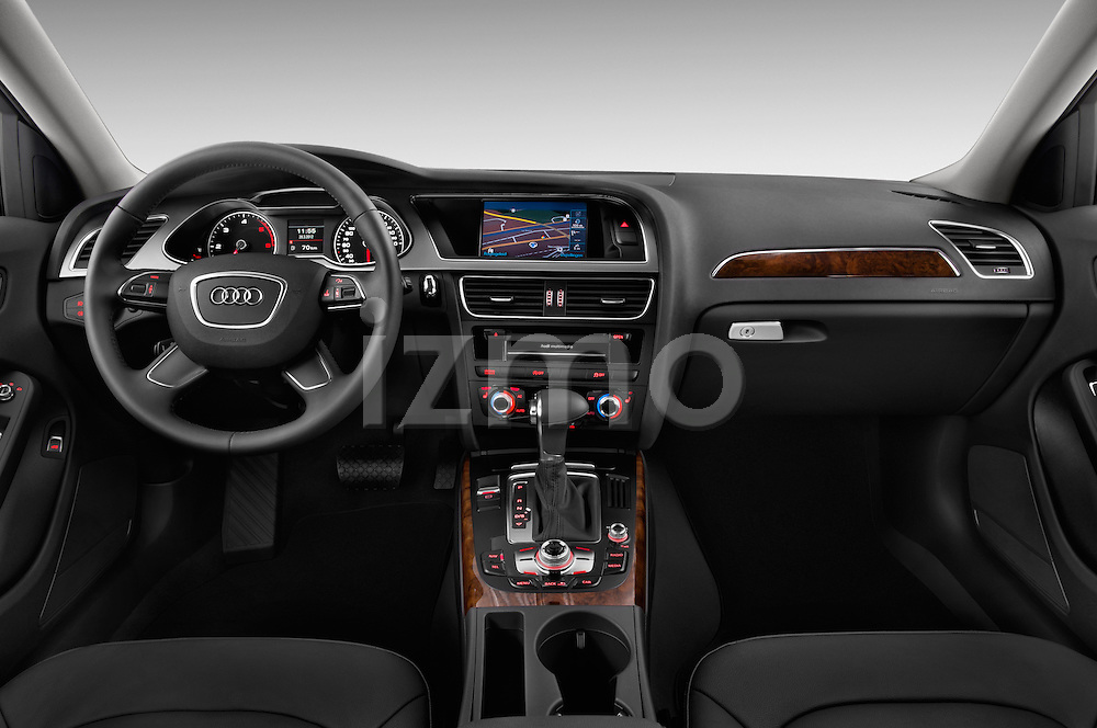Straight dashboard view of a 2014 Audi A4 AMBITION LUXE 5 Door Wagon 2WD