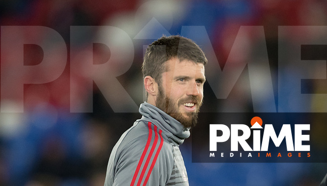 Michael Carrick of Man Utd pre match during the Premier League match between Crystal Palace and Manchester United at Selhurst Park, London, England on 5 March 2018. Photo by Andy Rowland.
