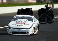 Sep 4, 2016; Clermont, IN, USA; NHRA pro stock driver Bo Butner during qualifying for the US Nationals at Lucas Oil Raceway. Mandatory Credit: Mark J. Rebilas-USA TODAY Sports