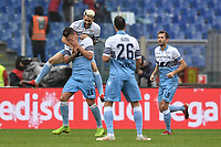 Celebration after  goal of Sergej Milinkovic Savic Lazio, with Luis Alberto. Goal celebration.<br /> Roma 22-12-2018 Stadio Olimpico<br /> Football Calcio Campionato Serie A<br /> 2018/2019 <br /> Lazio - Cagliari<br /> Foto Antonietta Baldassarre / Insidefoto